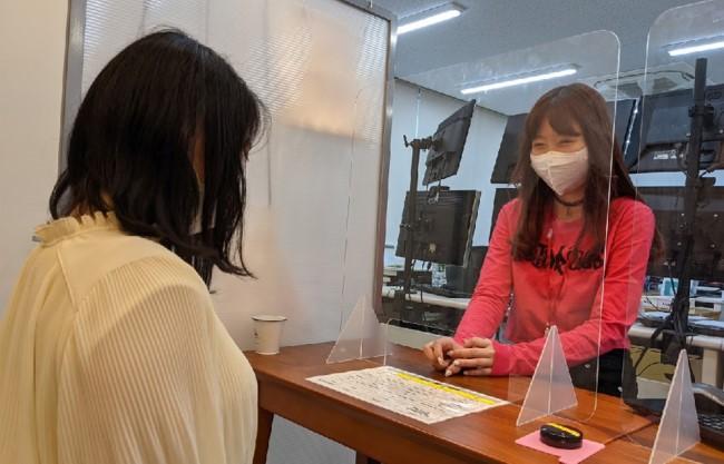 ポケットワーク新宿では基本女性スタッフが面接